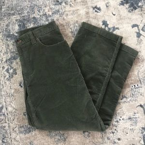 LL Bean green corduroy pants 34x30